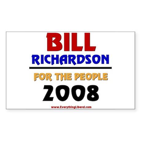 Bill Richardson 2008 Rectangle Sticker