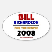 Bill Richardson 2008 Oval Decal