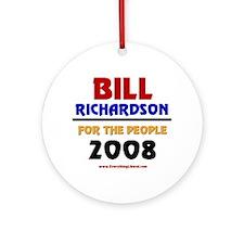 Bill Richardson 2008 Ornament (Round)