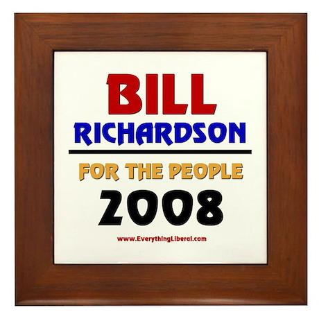 Bill Richardson 2008 Framed Tile