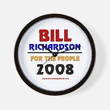 Bill Richardson 2008 Wall Clock