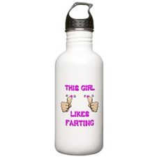 This Girl Likes Farting Water Bottle