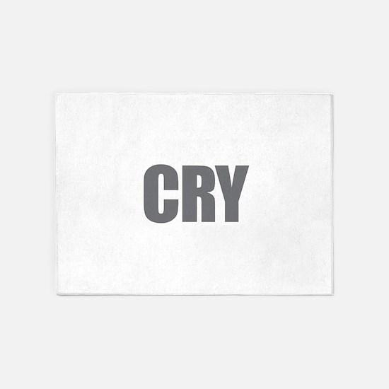 Cry 5'x7'Area Rug
