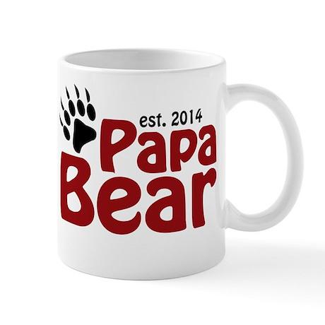 Papa Bear New Dad 2014 Mug