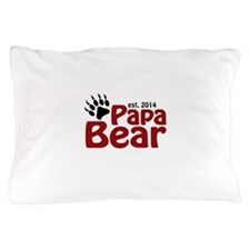 Papa Bear New Dad 2014 Pillow Case