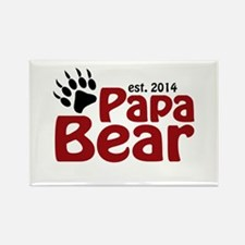 Papa Bear New Dad 2014 Rectangle Magnet (10 pack)