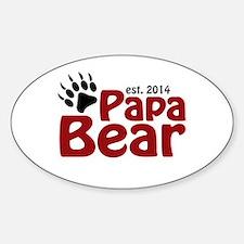 Papa Bear New Dad 2014 Decal