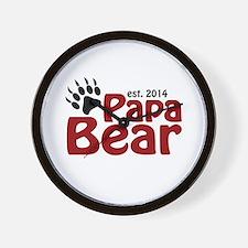 Papa Bear New Dad 2014 Wall Clock