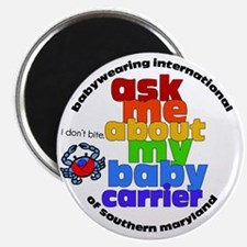 """ask me about my baby carrier 2.25"""" Magnet (100 pac"""