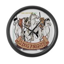 Canine Chivalry Large Wall Clock