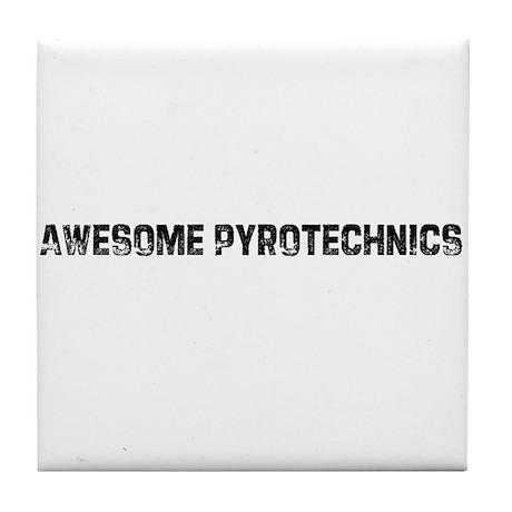 Awesome Pyrotechnics Tile Coaster