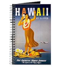 Hawaii, Hula, Travel, Vintage Poster Journal