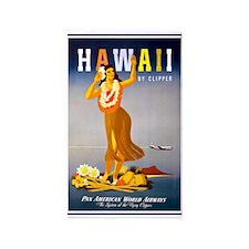 Hawaii, Hula, Travel, Vintage Poster 3'x5' Area Ru