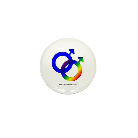 Gay Men Rainbow Symbol Mini Button (100 pack)