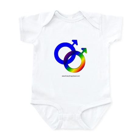 Gay Men Rainbow Symbol Infant Bodysuit
