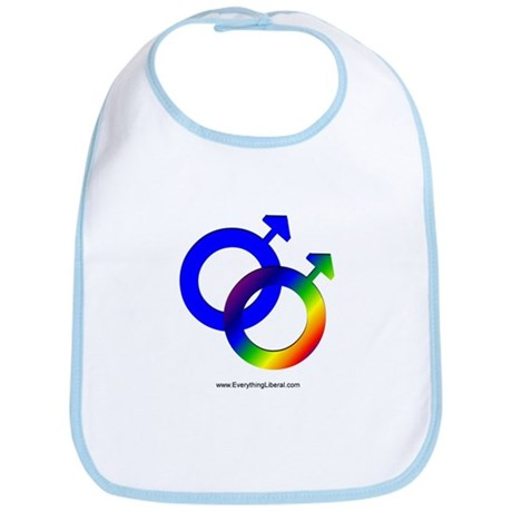 Gay Men Rainbow Symbol Bib