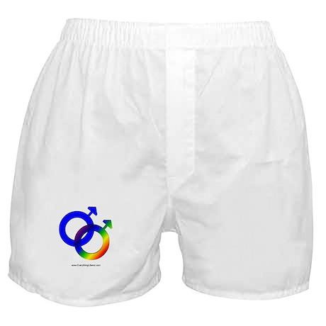 Gay Men Rainbow Symbol Boxer Shorts
