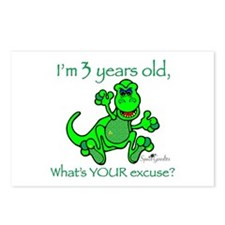 Postcards (Package of 8): 3 Year Old DINOSAUR