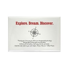 Explore. Dream. Discover. Rectangle Magnet