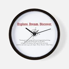 Explore. Dream. Discover. Wall Clock