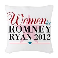 Women for Romney Ryan 2012, Pink/Blue Woven Throw