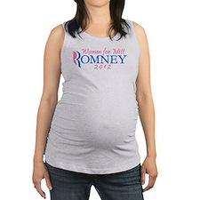 Pink Feminine Women for Mitt Romney 2012 Maternity