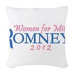 Pink Feminine Women for Mitt Romney 2012 Woven Thr