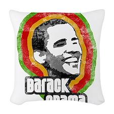 barack obama Woven Throw Pillow