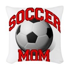 soccer mom Woven Throw Pillow