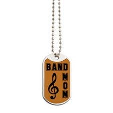 Band Mom Orange and Black Dog Tags