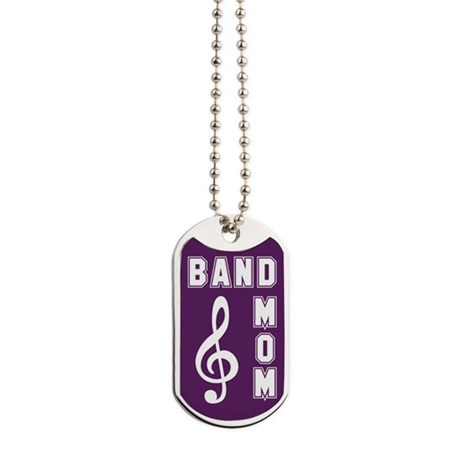 Band Mom Purple Dog Tags by marchingstuff2