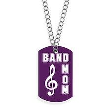 Band Mom Purple Dog Tags