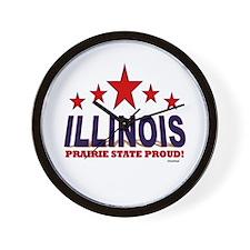 Illinois Prairie State Proud Wall Clock