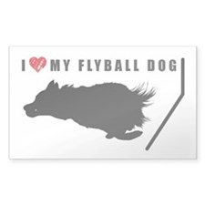 I love my flyball dog Decal