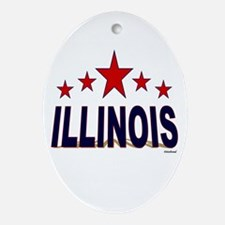 Illinois Ornament (Oval)