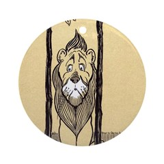 Cowardly Lion II Ornament (Round)