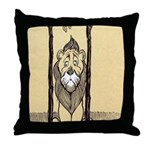 Cowardly Lion II Throw Pillow