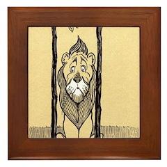 Cowardly Lion II Framed Tile