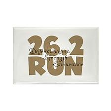 26.2 Run Tan Rectangle Magnet