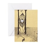 Cowardly Lion II Greeting Cards (Pk of 10)