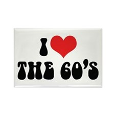 I Love The 60's 2 Rectangle Magnet (10 pack)
