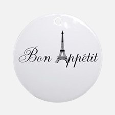 Bon Appetit Paris French Eiffel Tower Ornament (Ro