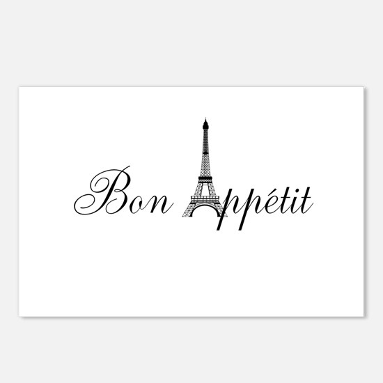 Bon Appetit Paris French Eiffel Tower Postcards (P