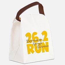 26.2 Run Yellow Canvas Lunch Bag