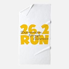 26.2 Run Yellow Beach Towel