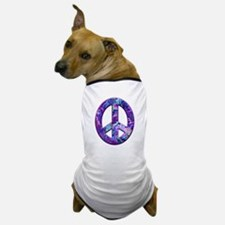 Hippy Peace, purple Dog T-Shirt