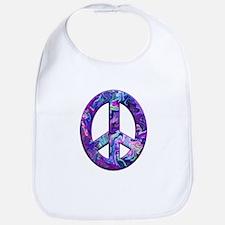 Hippy Peace, purple Bib