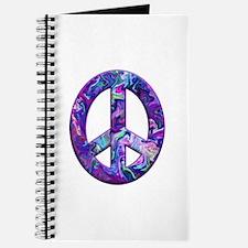Hippy Peace, purple Journal