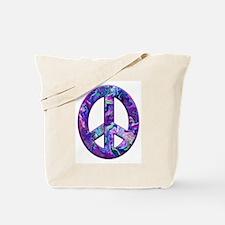 Hippy Peace, purple Tote Bag