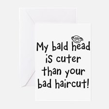 My Bald Head is Cute! Greeting Cards (Pk of 10
